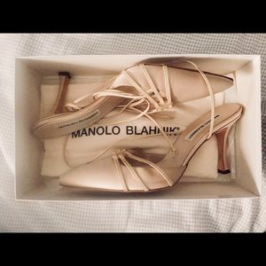 Manolo Blahnik heels with dust bag and box